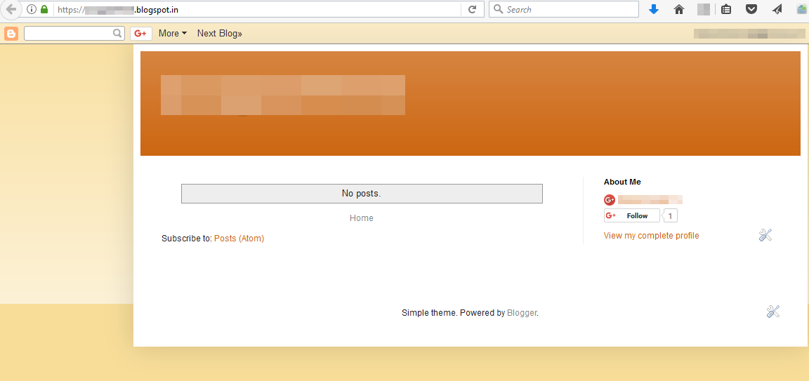 Google Blogspot Simple Theme