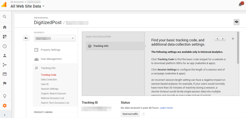 google-analytics-website-account-tracking-id