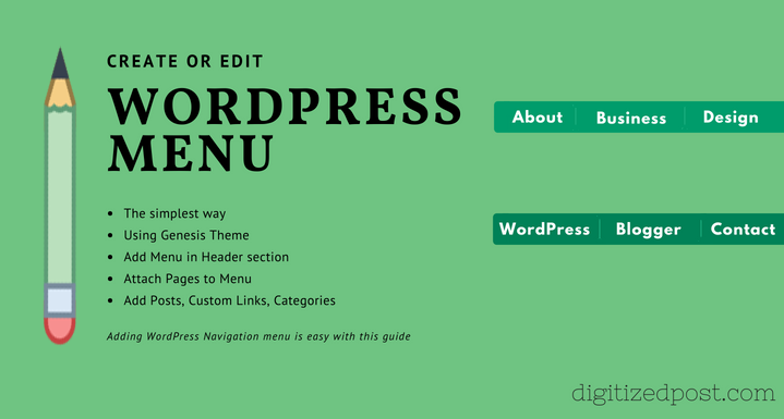 Add Navigation Menu in WordPress the Right way