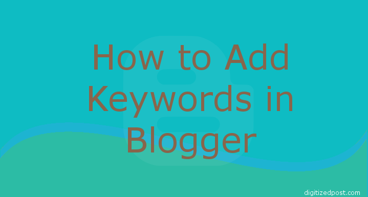 Blogger Post Enable Search Description Add Keywords