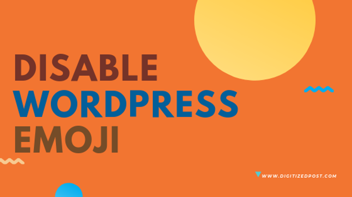 Remove disable wordpress emoji js